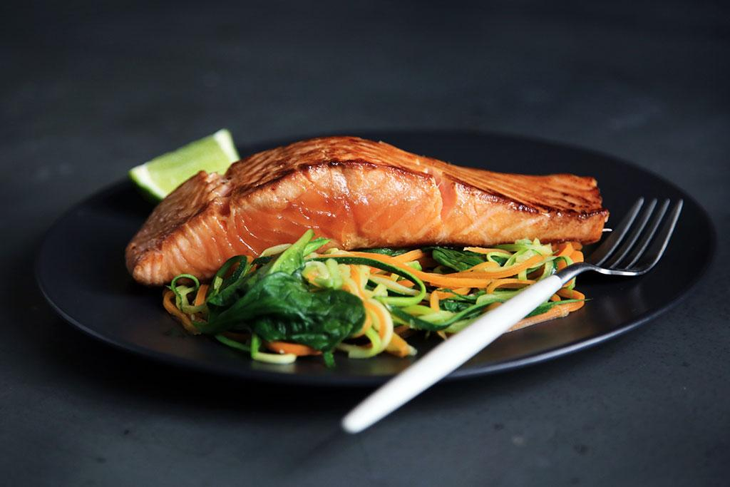 Wild Salmon in Fennel Sauce